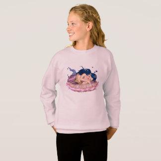 MERMAID SEA  CARTOON Girls' Hanes ComfortBlend® Sw Sweatshirt