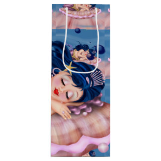 MERMAID SEA FAIRY CARTOON Gift Bag  WINE