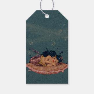 MERMAID SEA FAIRY CARTOON GIFT TAG KRAFT