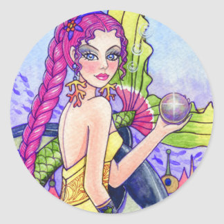 Mermaid Sea Fairy Fantasy Sticker Ann Howard