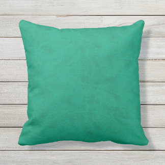 Mermaid Sea Green Velvet Look Throw Pillow