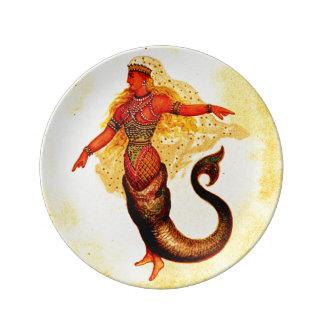 Mermaid Sea Nymph  Porcelain Plate