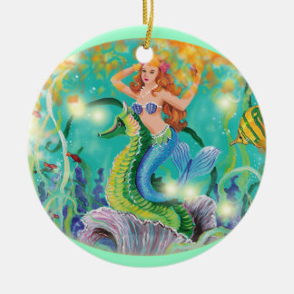 Mermaid & Seahorse Christmas Ornament Gift