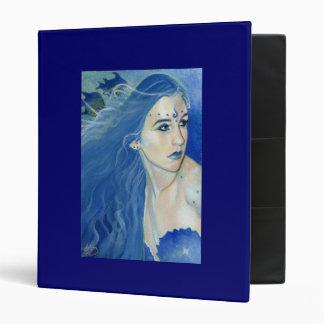Mermaid Shades of Blue Binder