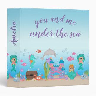 Mermaid Shell Castle Dolphin Crab Binder