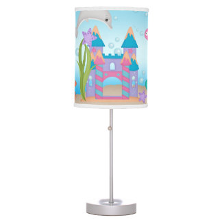 Mermaid Shell Castle Dolphin Crab Table Lamp