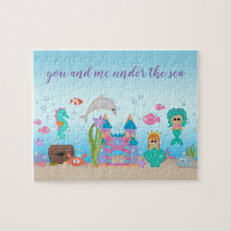 Mermaid Shell Castle Dolphin Seahorse Puzzle