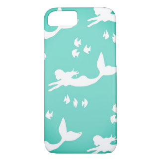 Mermaid Silhouettes Sea Green iPhone 7 Case