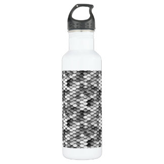 mermaid skin in black and white (pattern) 710 ml water bottle