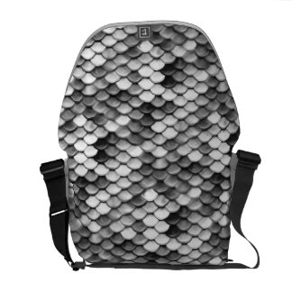 mermaid skin in black and white (pattern) commuter bag