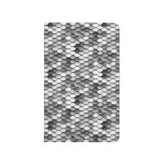 mermaid skin in black and white (pattern) journal