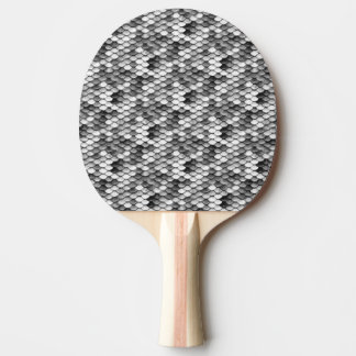 mermaid skin in black and white (pattern) ping pong paddle