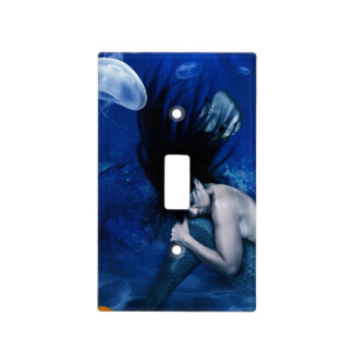 Mermaid Sleeping at the Bottom of the Ocean Light Switch Cover