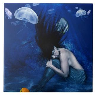 Mermaid Sleeping at the Bottom of the Ocean Tile