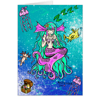Mermaid Slumber Greeting Card