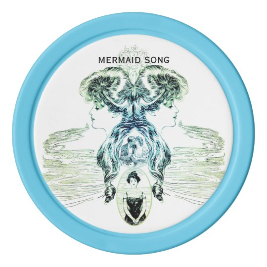 Mermaid Song Sea Love Romance Golf Ball Marker Poker Chips