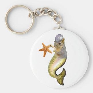 Mermaid Squirrel Keychain