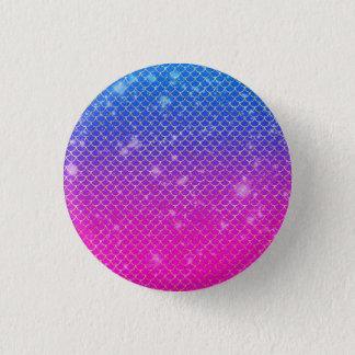 Mermaid Stars 1 Inch Round Button