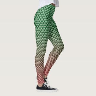 Mermaid Style ~ Green & Red Leggings