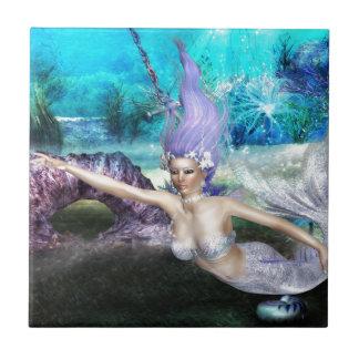 Mermaid Swimming Tile