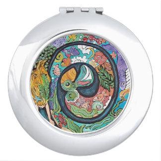 Mermaid Swirl Compact Mirror
