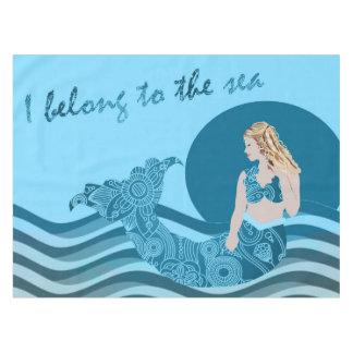 Mermaid table cloth aqua ocean theme tablecloth