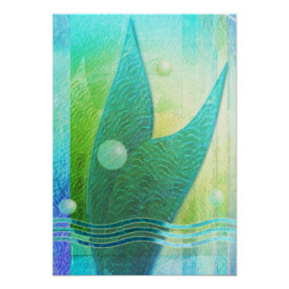 Mermaid Tail Abstract 3 Poster