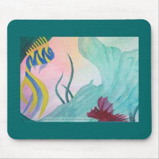 Mermaid Tail & Fish Mousepad