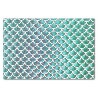 mermaid tail scale pattern tissue paper