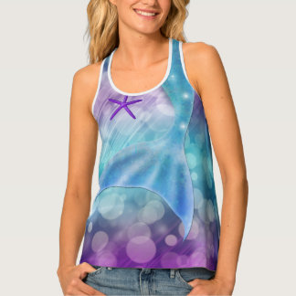 Mermaid Tail Starfish & Bubbles Under the Sea Tank Top