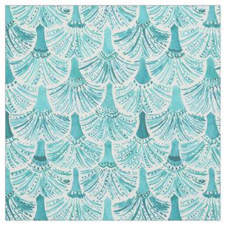 MERMAID TAILS Aqua Fish Scale Pattern Fabric