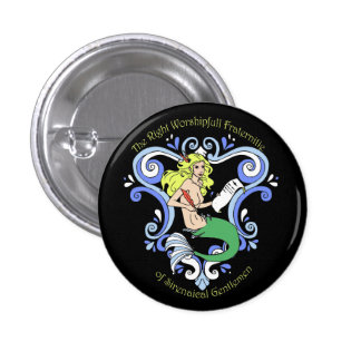 Mermaid Tavern (Color) 1 Inch Round Button