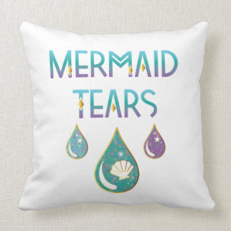 Mermaid Tears Square Pillow