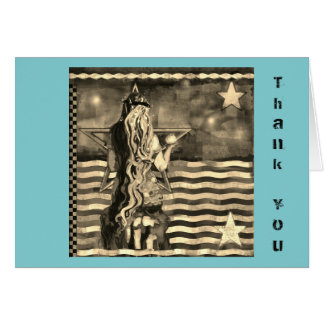 Mermaid Thank You Card with Sepia Tones