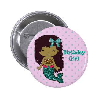 "Mermaid Themed ""Birthday Girl"" Button"