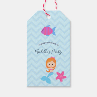 Mermaid themed Birthday Party Guest favor Gift Tags