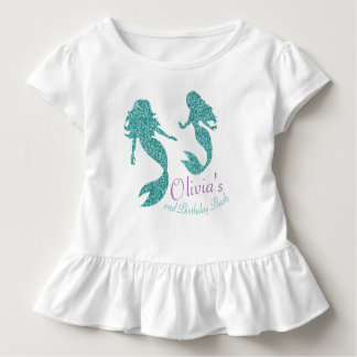Mermaid toddler tshirt with text