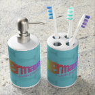 Mermaid Toothbrush Holder and Soap Dispenser Set