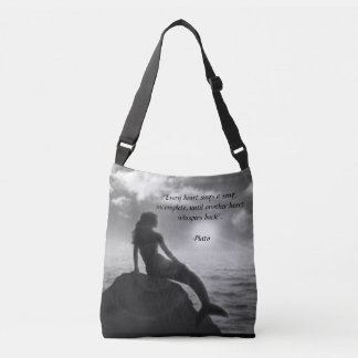 Mermaid Tote Bag with Quote from Plato