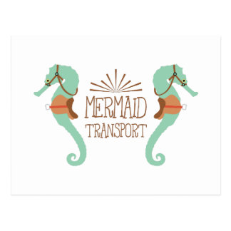 Mermaid Transport Postcard