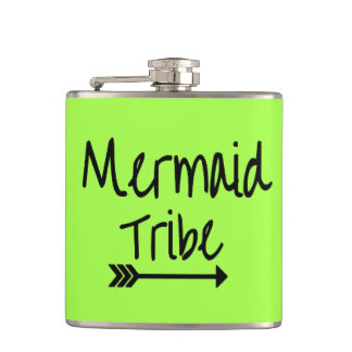 Mermaid Tribe Bachelorette Wedding Vinyl Flask