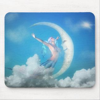 Mermaid Under the Moon Mousepad