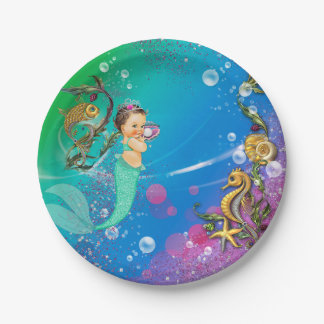 Mermaid Under the Sea 7 Inch Paper Plate