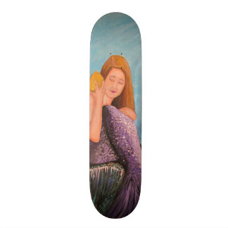 Mermaid Under The Sea Custom Skateboard
