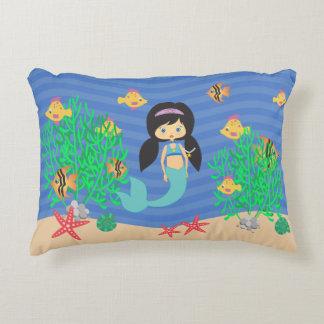Mermaid Under The Sea Decorative Pillow