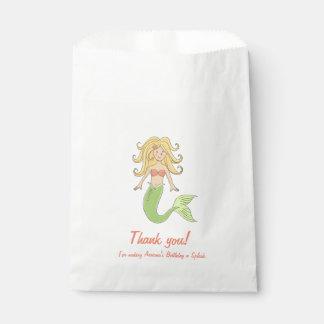 Mermaid Under the Sea Favor Bags