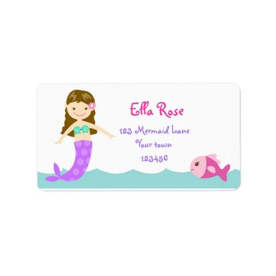 Mermaid Under the sea Return Address labels
