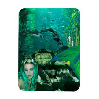 Mermaid Underwater Treasures Photo Magnet