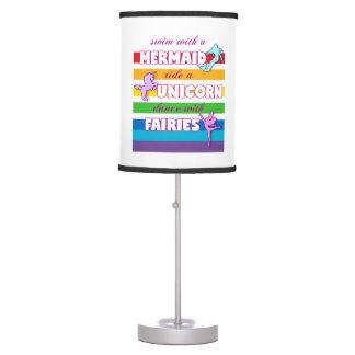 Mermaid, Unicorn, Fairies Gift. Cute Saying. Table Lamp