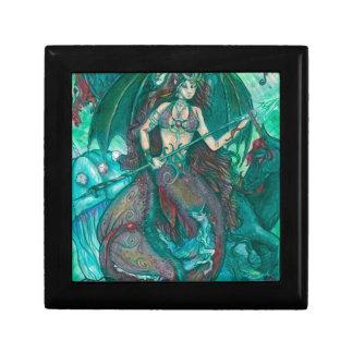 Mermaid Unicorn Ocean Sea Teal Green Gift Box